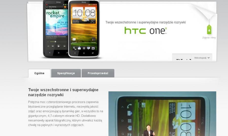 OneX, nowy smartfon HTC