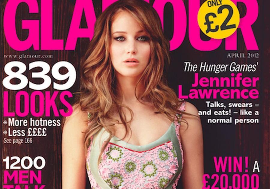Jennifer Lawrence na okładce \