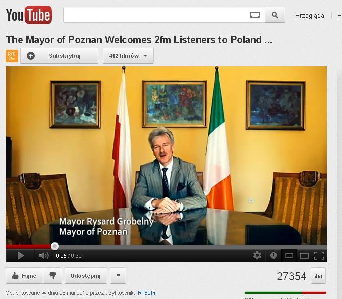 Prezydent Poznania reklamuje miasto