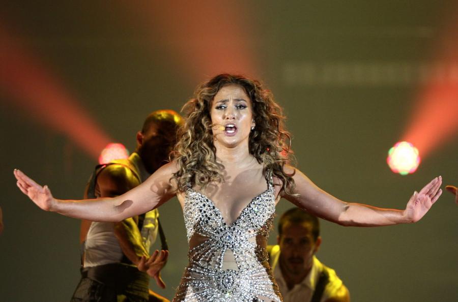 Jennifer Lopez podczas koncertu w Panama City