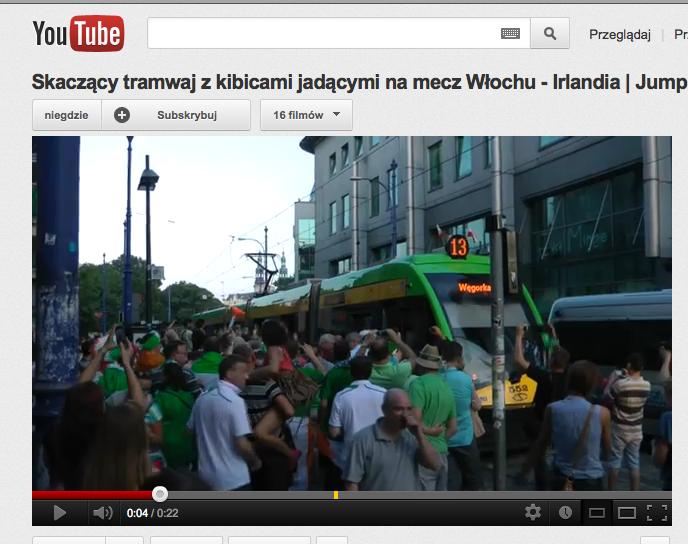 Skaczący tramwaj w Poznaniu