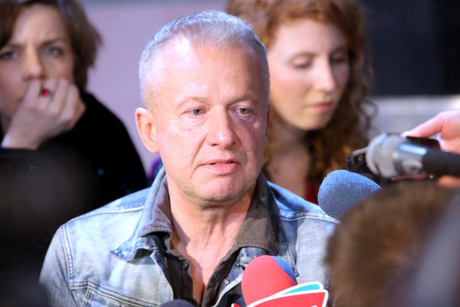 """Bogusław Linda na próbie spektaklu """"Merylin Mongoł"""""""