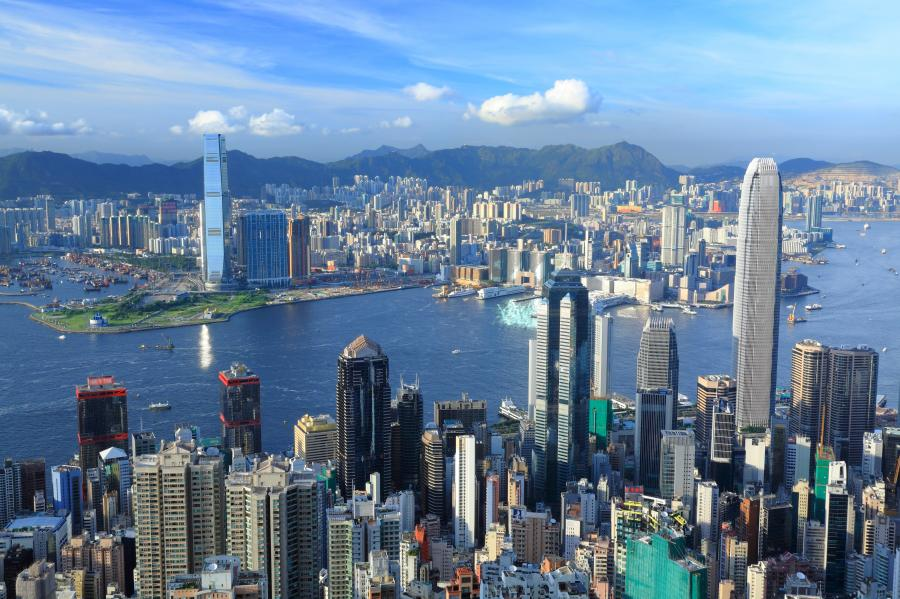 Hongkong z lotu ptaka