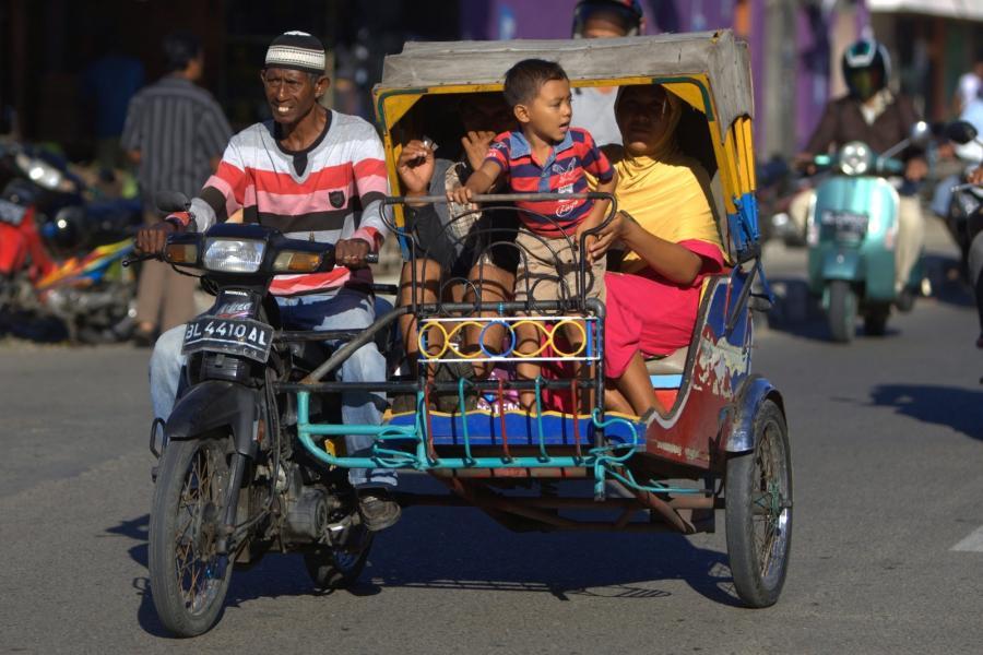 Becak, czyli indonezyjska riksza