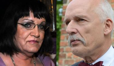 Anna Grodzka i Janusz Korwin-Mikke