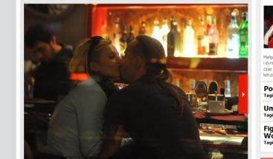 Czułe pożegnanie Dody i Nergala w restauracji