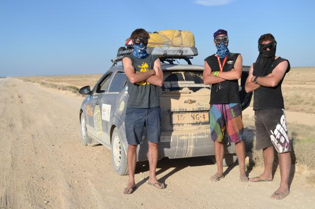 Aveo's First Mongol Rally Team