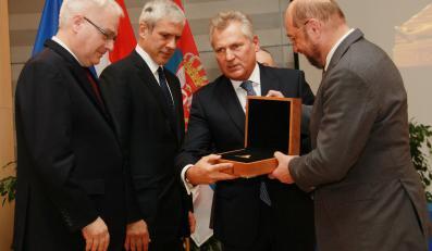 Aleksander Kwaśniewski w Brukseli