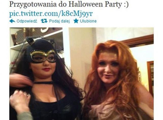 Marta i Wiktoria Grycan przebrane na Halloween