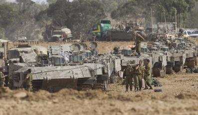 Izraelskie wojsko na granicy ze Strefą Gazy