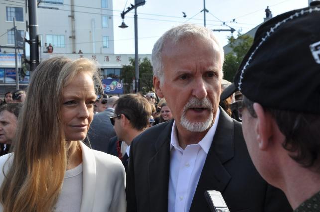 James Cameron z żoną Suzy Amis