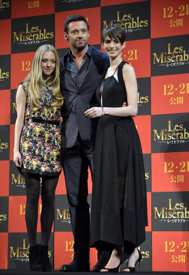 "Amanda Seyfried, Hugh Jackman i Anne Hathaway na premierze ""Les Misérables"" w Tokio"