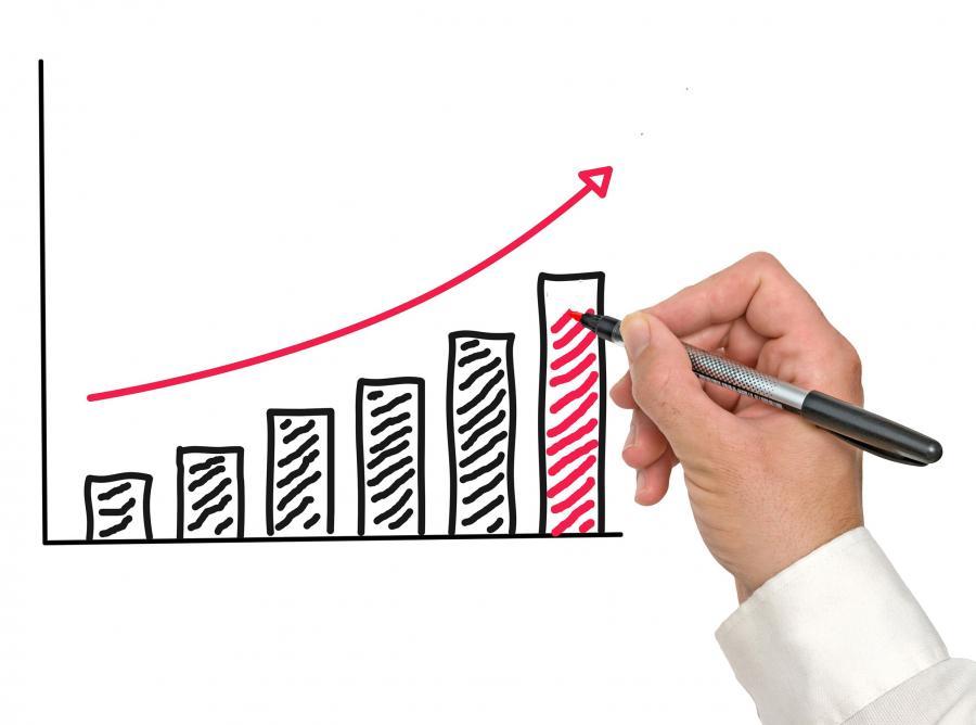 wzrost wykres giełd praca gospodarka