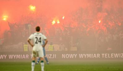 Tak wyglądał stadion w Poznaniu podczas meczu Lech - Śląsk