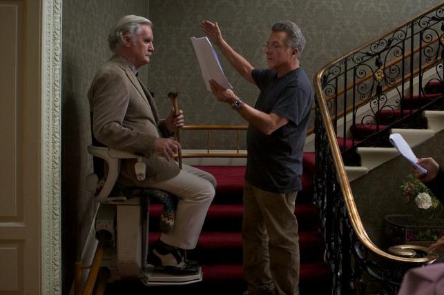 "Dustin Hoffman i Billy Connolly w filmie ""Kwartet"""