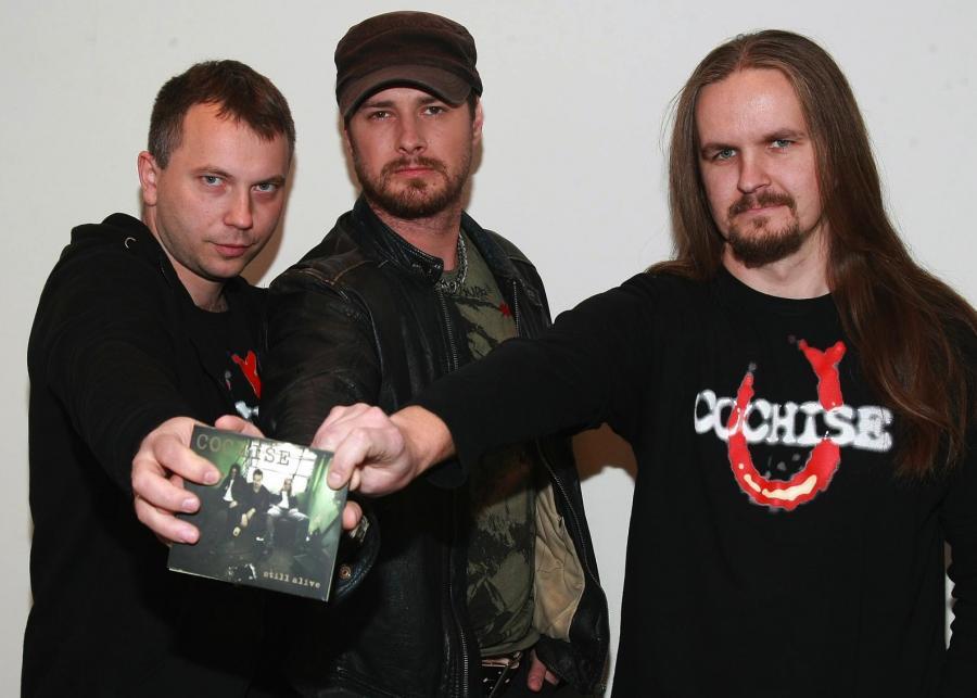 Paweł Małaszyński z muzykami Cochise