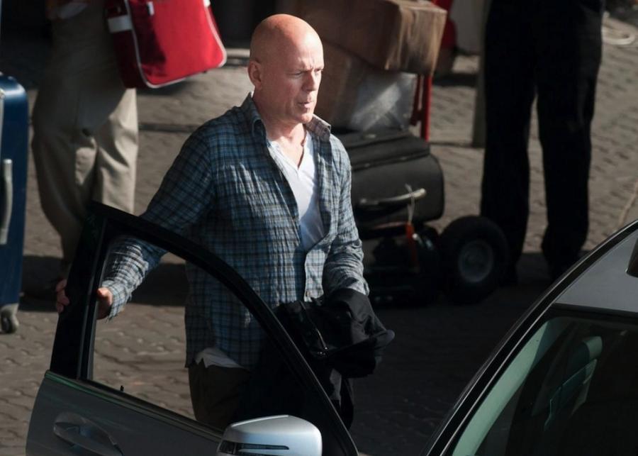 Bruce Willis na planie \