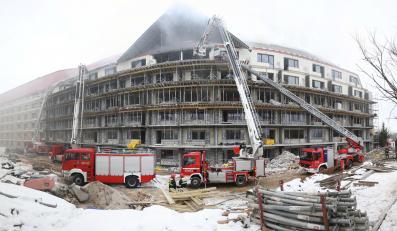 Pożar w hotelu Gołębiewski