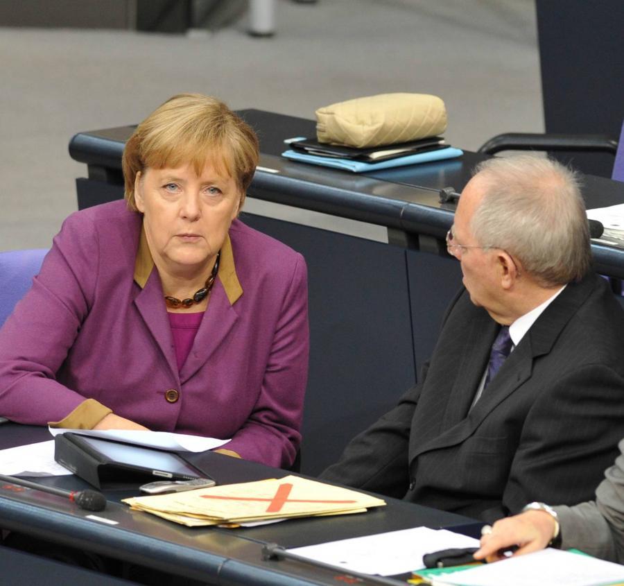 Angela Merkel i Wolfgang Schaeuble