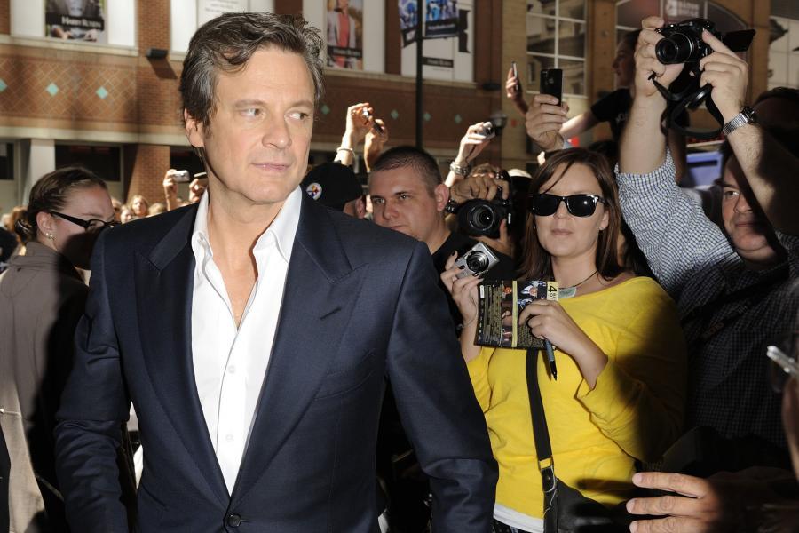Colin Firth na premierze filmu \