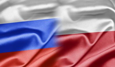 Flagi Polski i Rosji
