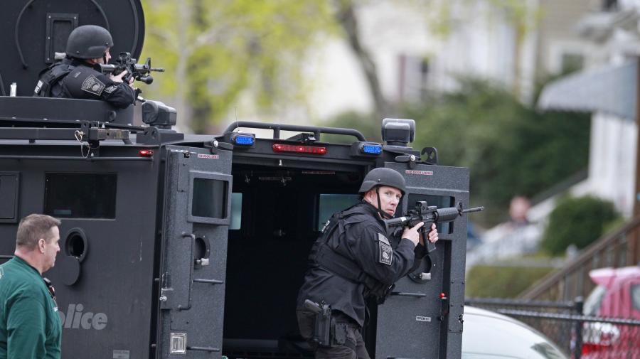 Policjanci w Bostonie