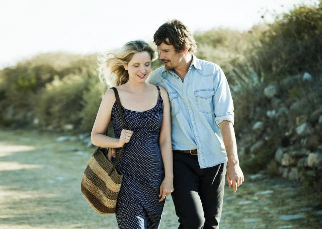 """Julie Delpy i Ethan Hawke w filmie """"Przed północą"""""""