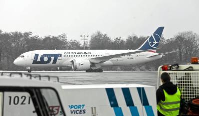 Boeing 787 Dreamliner na lotnisku Kraków Balice