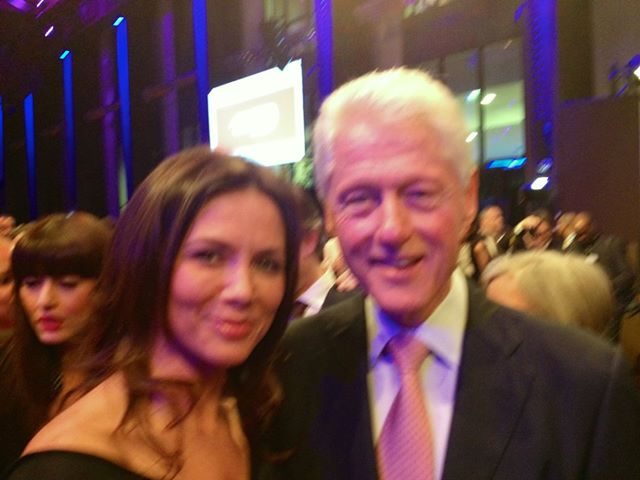Kinga Rusin na spotkaniu z Billem Clintonem