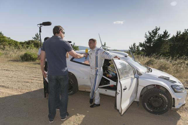 Lukas Podolski w polo R WRC