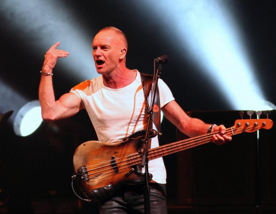 Sting podczas koncertu finałowego Life Festival 2013 w Oświęcimiu