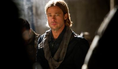 "Brad Pitt w filmie ""World War Z"""