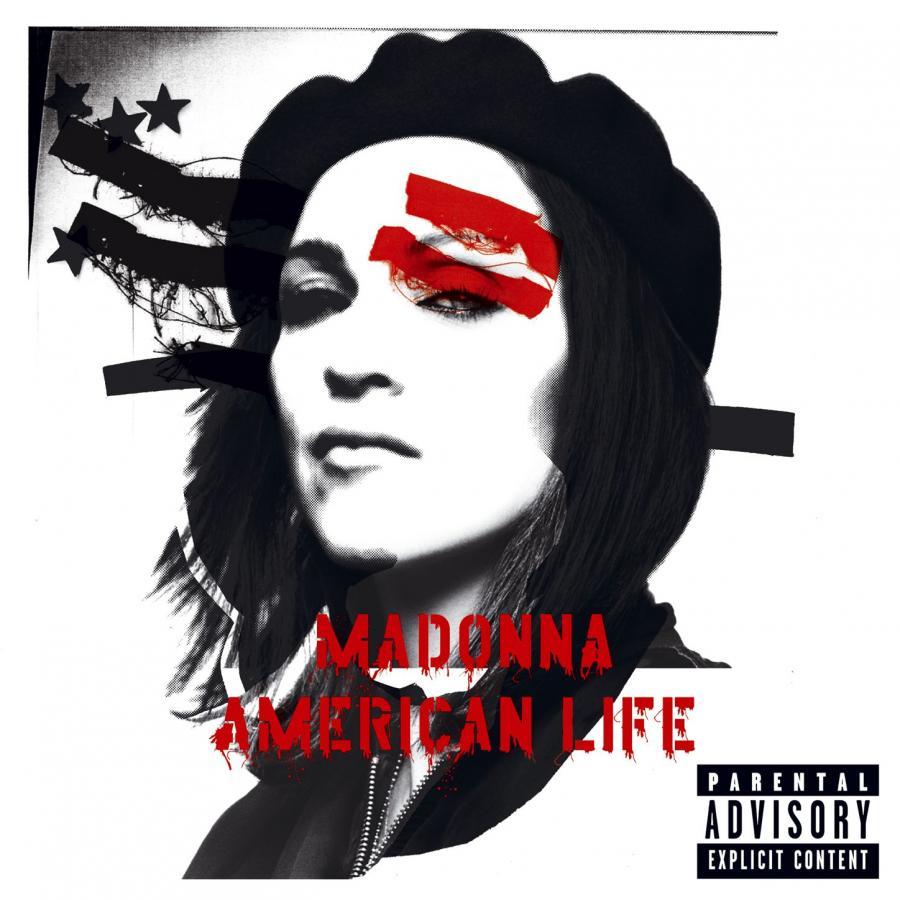 "Madonna na okładce albumu ""American Life"" (2003)"