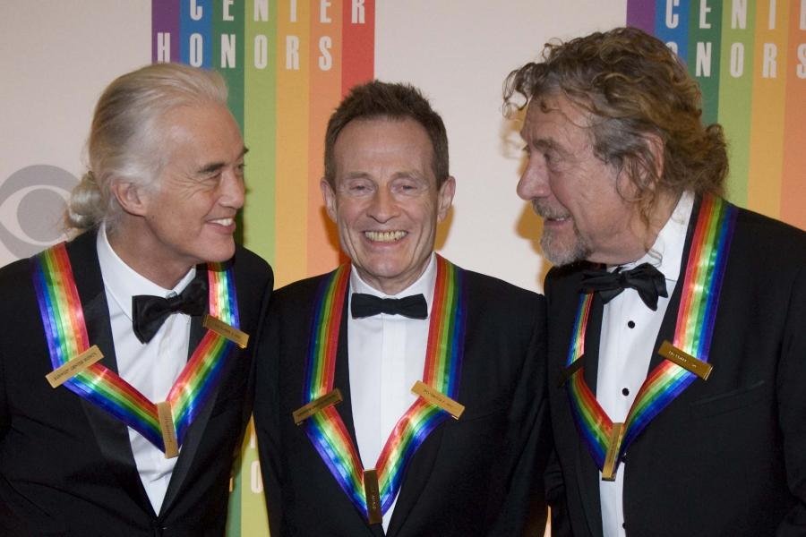 Jimmy Page, John Paul Jones i Robert Plant