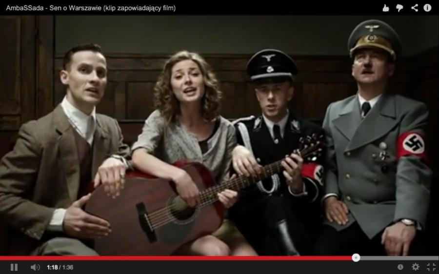"""Hitler i Ribbentrop śpiewają """"Sen o Warszawie"""""""