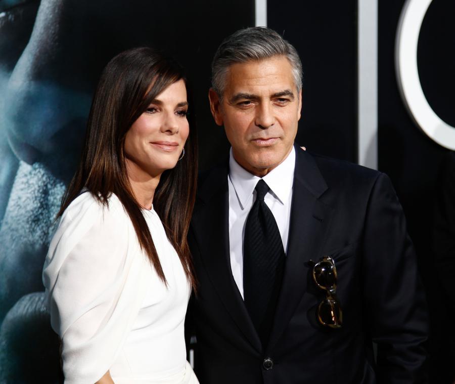 Sandra Bullock i George Clooney na premierze \