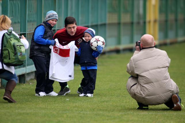 Robert Lewandowski spełnił marzenie małego chłopca