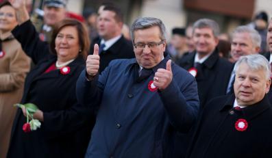 Bronisław Komorowski na Marszu Niepodległości