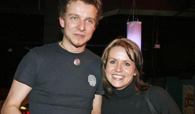 Piotr Kupicha z żoną Agatą