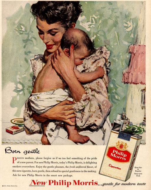 """papierosy """"Philip Morris"""", rok 1956"""