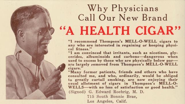 """Cygara """"Thompson's Mell-O-Well"""", rok 1931"""
