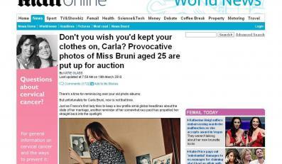 Przeszłość znów dopadła Carlę Bruni