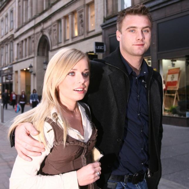 Katarzyna Modrzewska i Artur Boruc w 2007 roku
