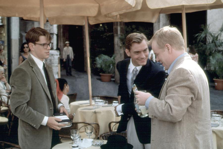 Matt Damon, Jude Law i Philip Seymour Hoffman w filmie \