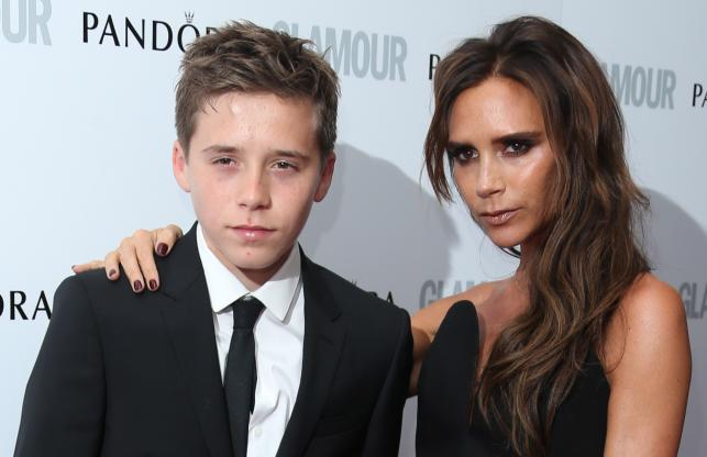 Victoria Beckham i jej syn Brooklyn