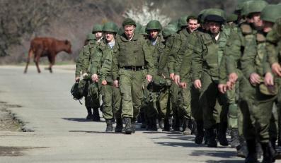 Rosyjscy żołnierze na Krymie
