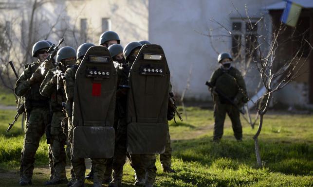 Rosyjski szturm na ostatnią ukraińską bazę na Krymie. ZDJĘCIA z ataku na Belbek