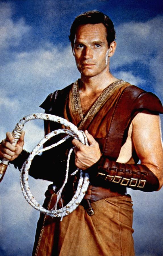 """Charlton Heston w najsłynniejszym """"Ben Hurze"""" z 1959 roku"""