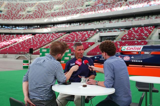 Andy Green w trakcie wywiadu
