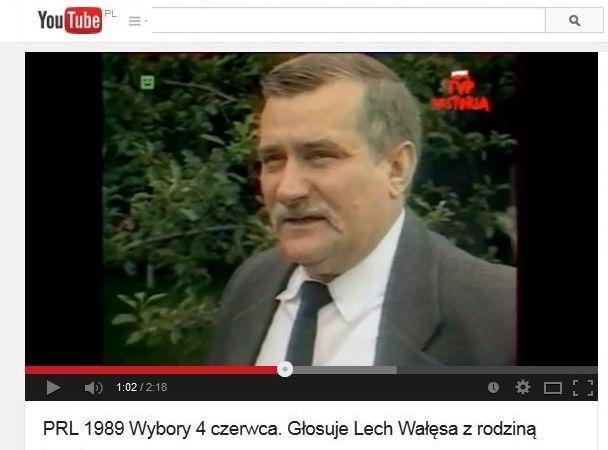 Lech Wałęsa - archiwalne nagranie z 4 czerwca 1989 roku